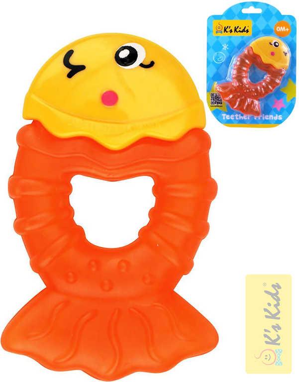 K´S KIDS Baby kousátko rybka 15cm chladící pro miminko plast na kartě