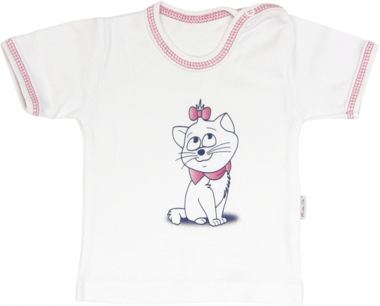 Bavlněné tričko Kočka Srdíčko - krátký rukáv , roz.