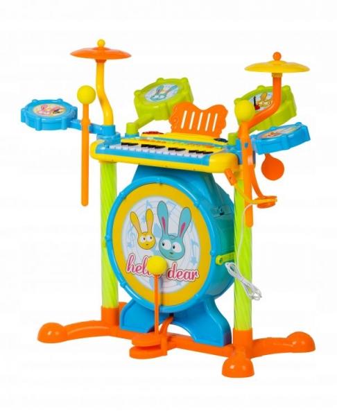 Multistore Plastová bicí sada s klavírem + židlička