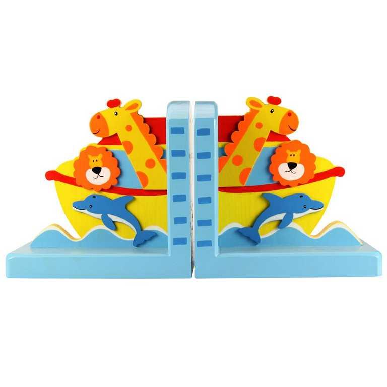Bigjigs Toys Opěrky knih Noemova archa sada 2 ks