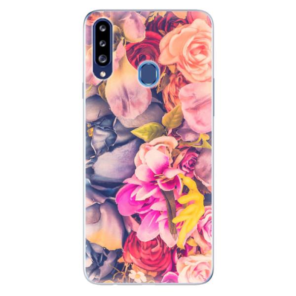 Odolné silikonové pouzdro iSaprio - Beauty Flowers - Samsung Galaxy A20s