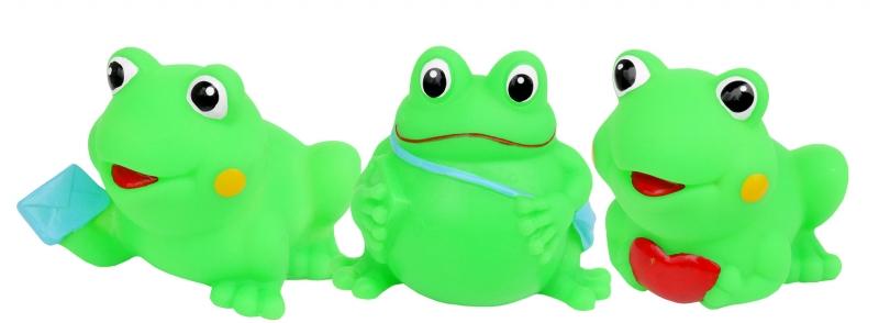 Gumové zvířátka do vody - veselé žabičky, 3ks v balení