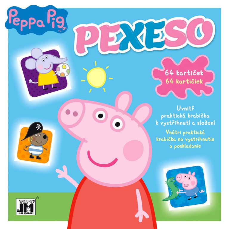 JIRI MODELS Pexeso v sešitu Peppa Pig s krabičkou a omalovánkou
