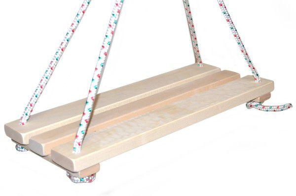 Houpačka/Houpací prkénko dřevo přírodní 46x19cm nosnost 80kg v sáčku
