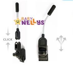 Slunečník, deštník do kočárku Baby Nellys ® - šedý/grafit