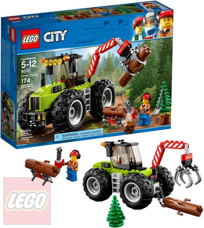 LEGO CITY Traktor do lesa STAVEBNICE 60181