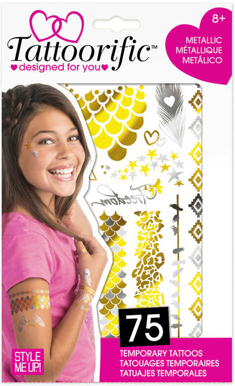 WOOKY Tetování stylové holčičí metalické ornamenty 75 tetovaček