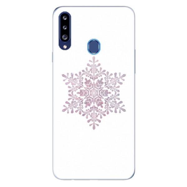 Odolné silikonové pouzdro iSaprio - Snow Flake - Samsung Galaxy A20s