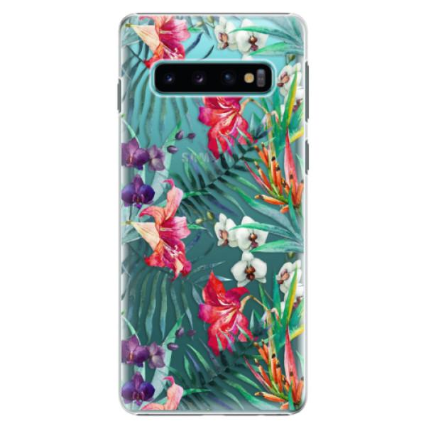Plastové pouzdro iSaprio - Flower Pattern 03 - Samsung Galaxy S10