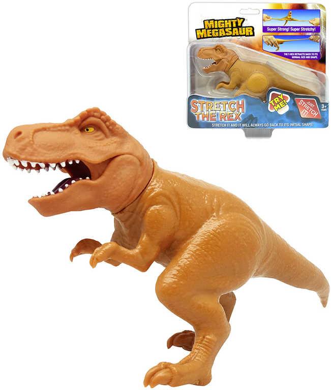 ADC Mighty Megasaur dinosaurus T-Rex elastický 20cm natahovací ještěr gumový