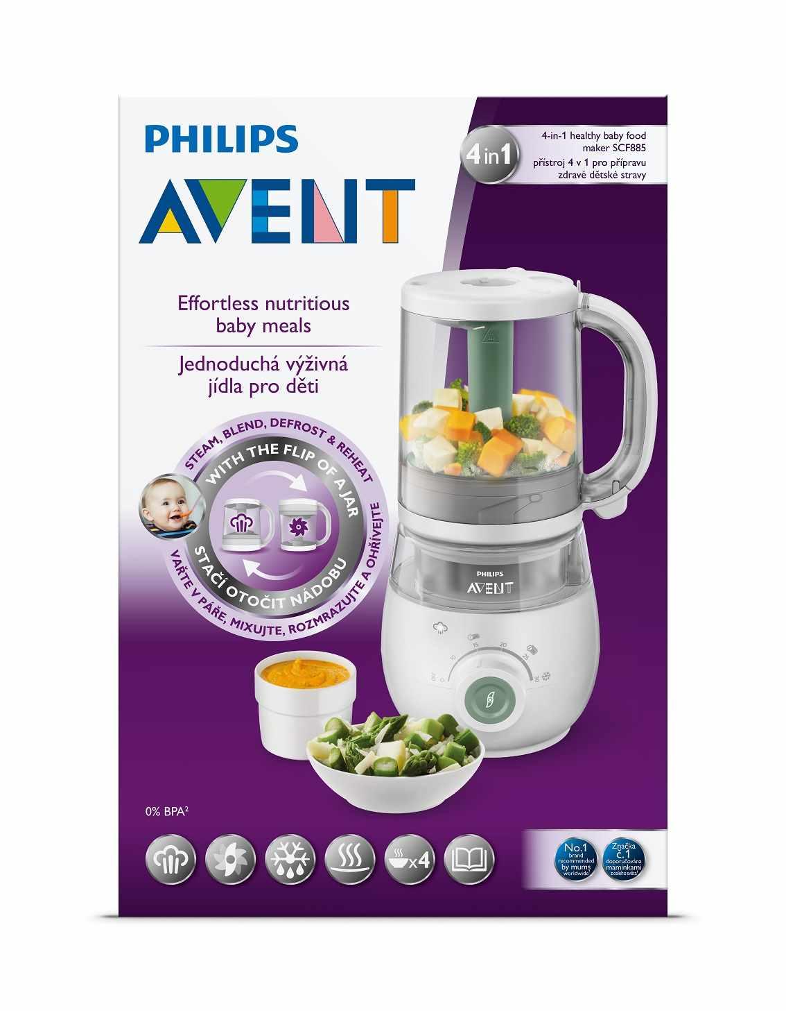 Parní hrnec s mixérem 4v1 Philips Avent - bílá