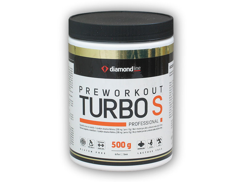 Diamond line Preworkout Turbo S 500g-pomeranc