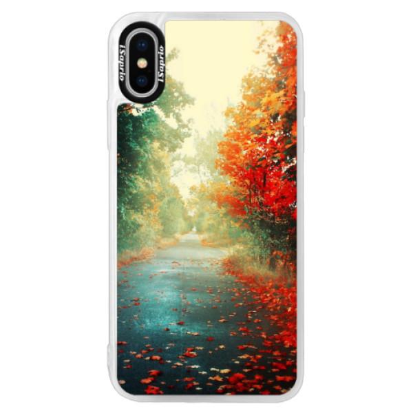 Neonové pouzdro Pink iSaprio - Autumn 03 - iPhone X