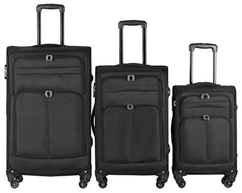 Sada cestovních kufrů na kolečkách, 3 ks