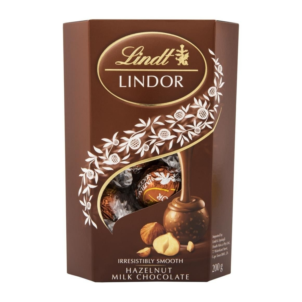 Lindt Lindor Hazelnut čokoládové bonbóny s lískovými oříšky 200 g