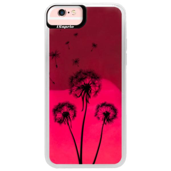 Neonové pouzdro Pink iSaprio - Three Dandelions - black - iPhone 6/6S