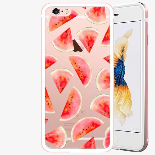 Plastový kryt iSaprio - Melon Pattern 02 - iPhone 6 Plus/6S Plus - Rose Gold