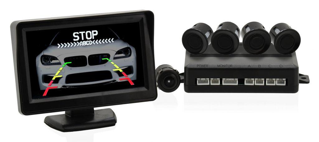 Parkovací asistent - 4 senzory + zadní kamera