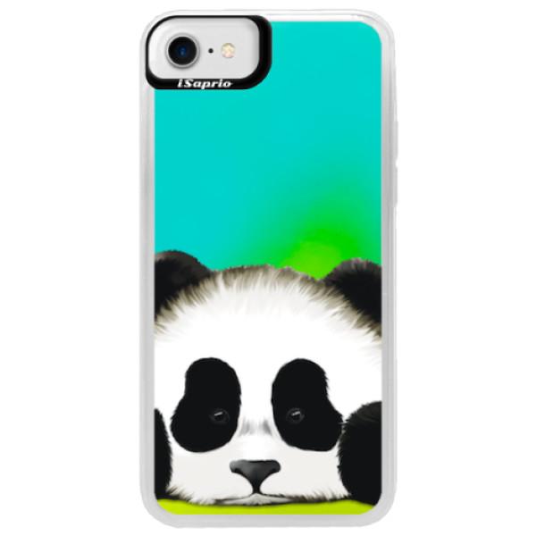 Neonové pouzdro Blue iSaprio - Sad Panda - iPhone 7
