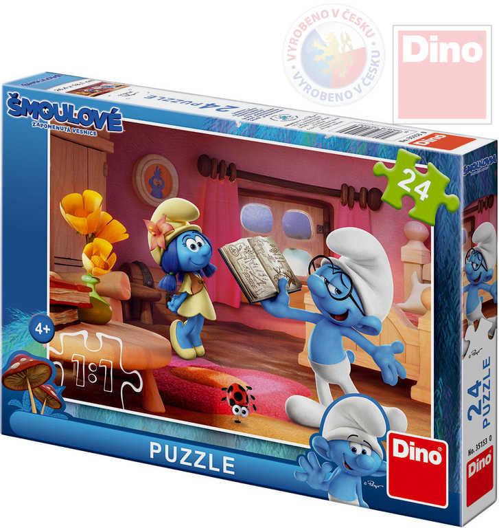 DINO Puzzle Šmoulové 3 Chvilka poezie 26,5x18cm 24 dílků v krabici
