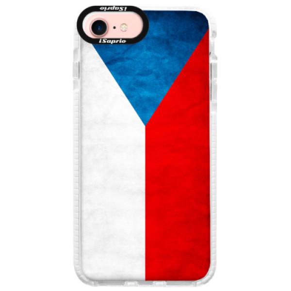 Silikonové pouzdro Bumper iSaprio - Czech Flag - iPhone 7
