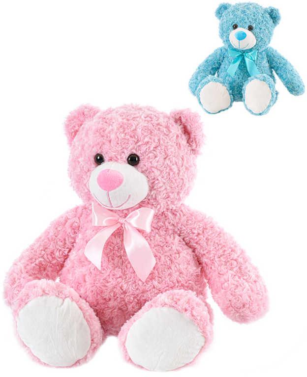 PLYŠ Medvěd barevný 65cm s mašlí 2 barvy *PLYŠOVÉ HRAČKY*