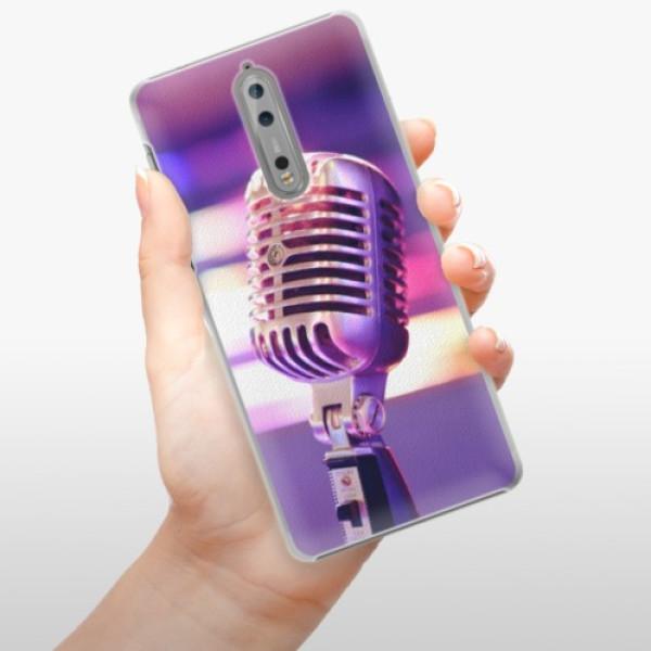 Plastové pouzdro iSaprio - Vintage Microphone - Nokia 8