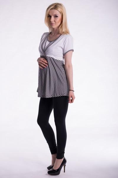 Těhotenské, kojící triko/tunika kr. rukáv