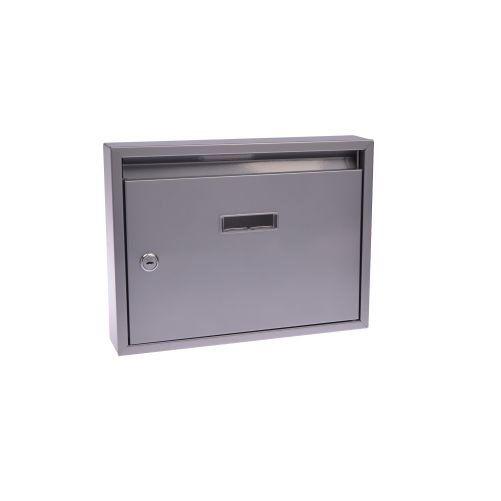Schránka poštovní paneláková 325x240x60mm šedá bez děr