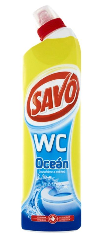 WC Oceán čisticí a dezinfekční přípravek na toalety 750 ml