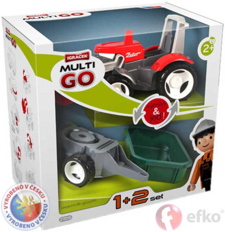 EFKO IGRÁČEK MultiGO 1+2 Traktor set s doplňky v krabiččce