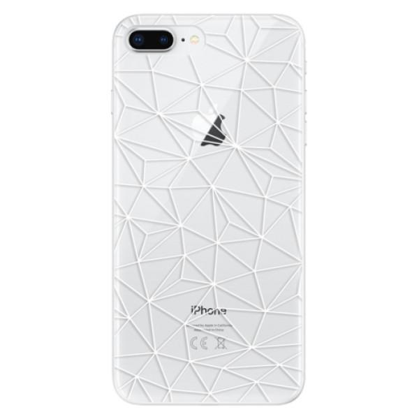 Odolné silikonové pouzdro iSaprio - Abstract Triangles 03 - white - iPhone 8 Plus