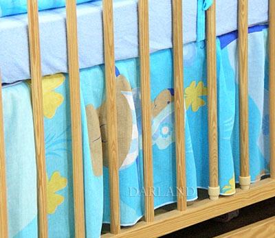 VÝPRODEJ Krásný volánek pod matraci - Motýlek modrý - 120x60