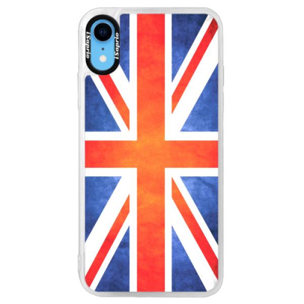 Neonové pouzdro Pink iSaprio - UK Flag - iPhone XR