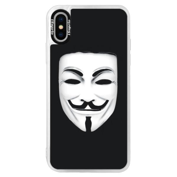 Neonové pouzdro Pink iSaprio - Vendeta - iPhone XS