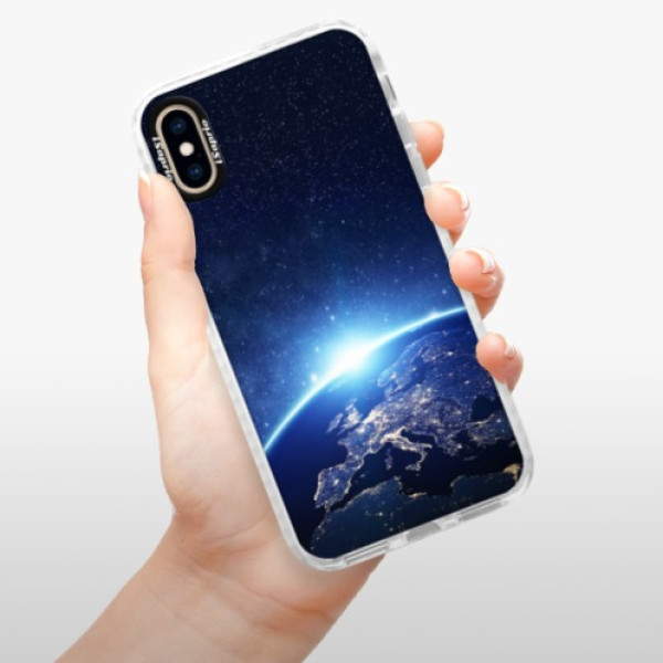 Silikonové pouzdro Bumper iSaprio - Earth at Night - iPhone XS
