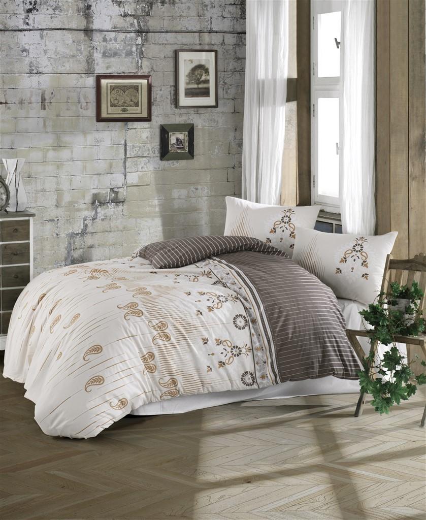 Povlečení francouzské bavlna 220x220,70x90 Dolores natur, Výběr zapínání:
