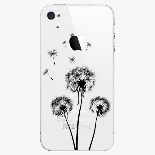 Plastový kryt iSaprio - Three Dandelions - black - iPhone 4/4S