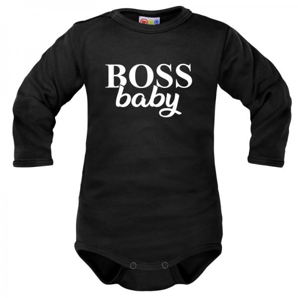 body-dlouhy-rukav-dejna-boss-baby-cerne-vel-80-80-9-12m