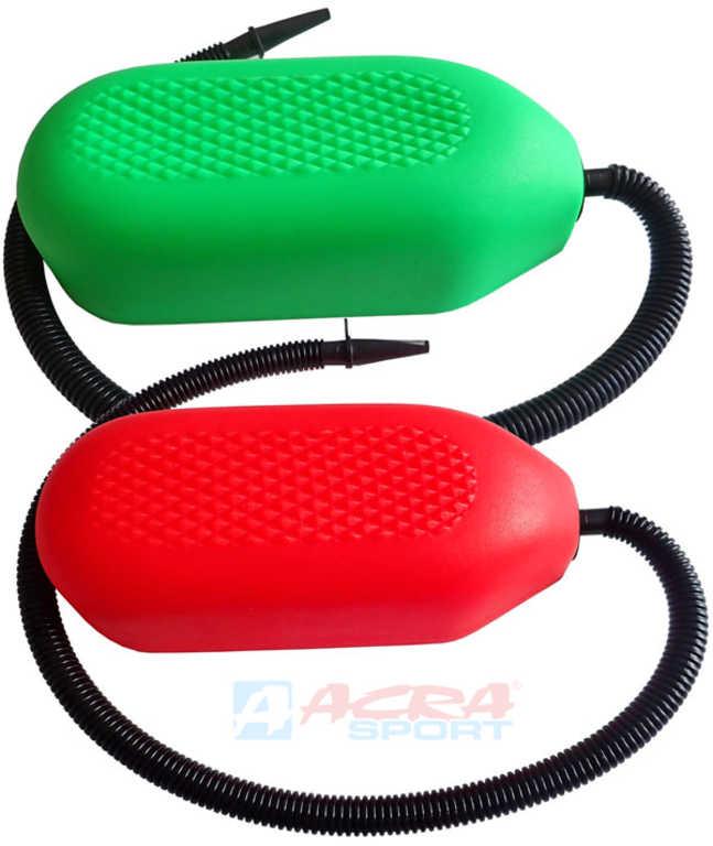 ACRA Nafukovadlo Žabka (nožní pumpa) 1,25 litry 2 barvy