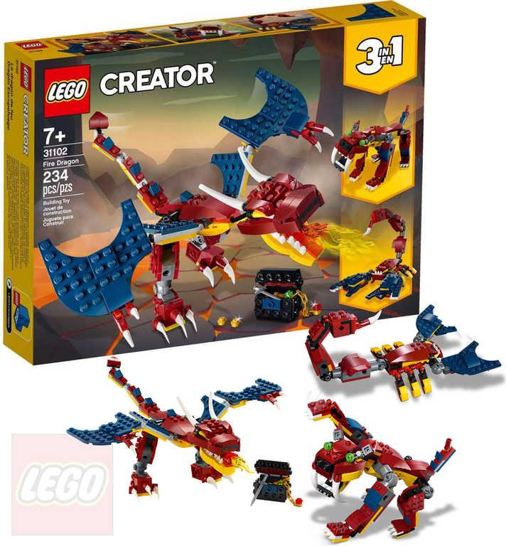 LEGO CREATOR Drak ohnivý 3v1 31102 STAVEBNICE