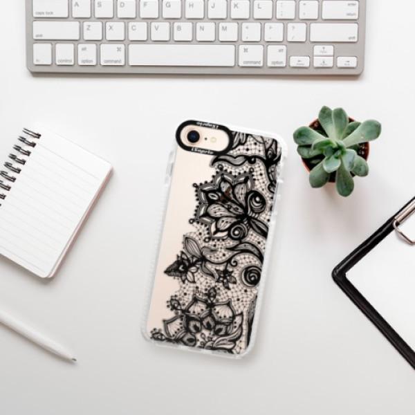 Silikonové pouzdro Bumper iSaprio - Black Lace - iPhone 8