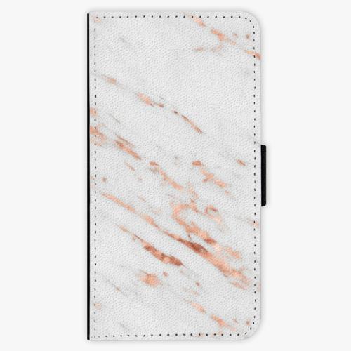 Flipové pouzdro iSaprio - Rose Gold Marble - Huawei P9