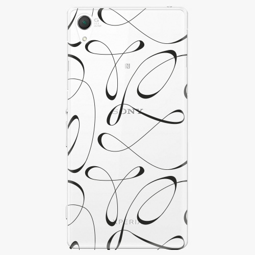 Plastový kryt iSaprio - Fancy - black - Sony Xperia Z2