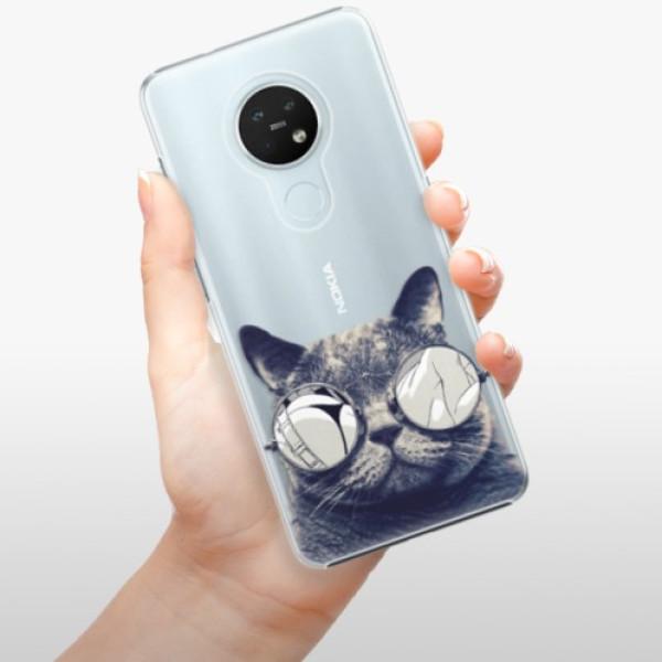 Plastové pouzdro iSaprio - Crazy Cat 01 - Nokia 7.2