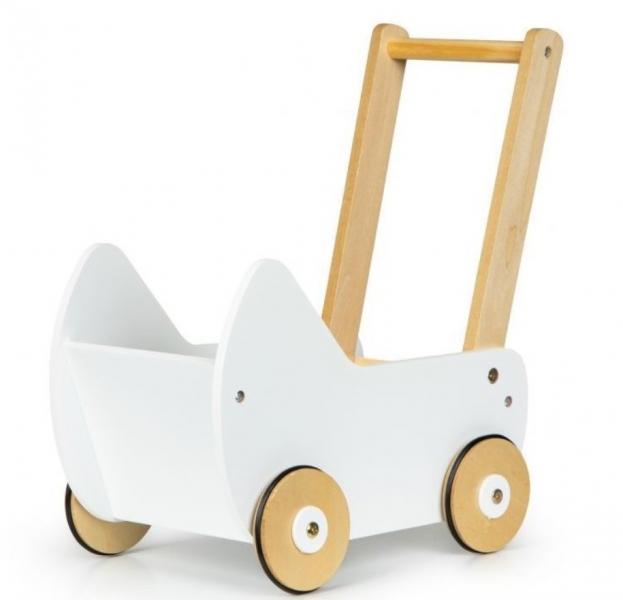 eco-toys-dreveny-kocarek-pro-panenky-bily