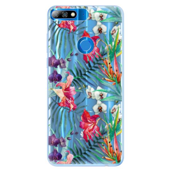 Silikonové pouzdro iSaprio - Flower Pattern 03 - Huawei Y7 Prime 2018