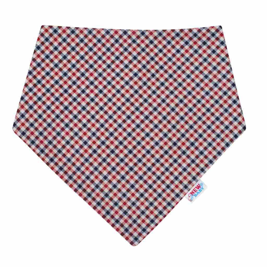 Kojenecký šátek na krk New Baby Checkered - dle obrázku/univerzální