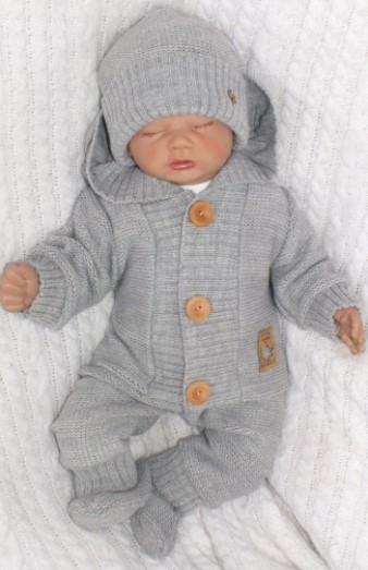 Z&Z 4-dílná kojenecká soupravička, kabátek, tepláčky, čepička a botičky