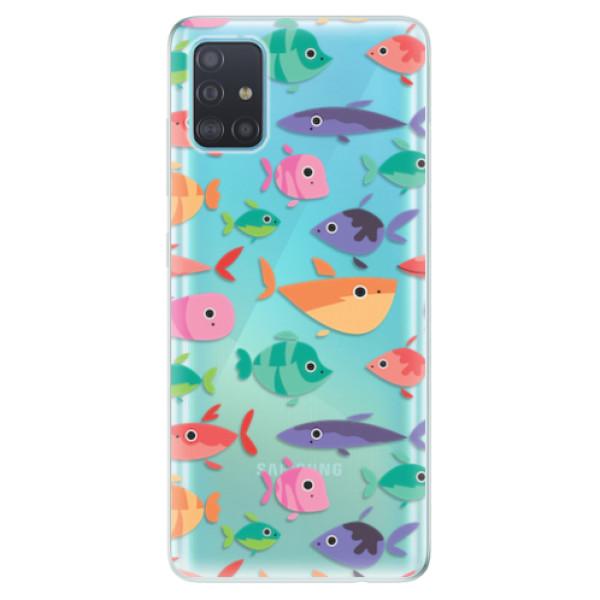 Odolné silikonové pouzdro iSaprio - Fish pattern 01 - Samsung Galaxy A51